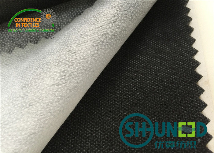 50% polyester , 50% nylon base cloth and paste dot nonwoven interlining for garment