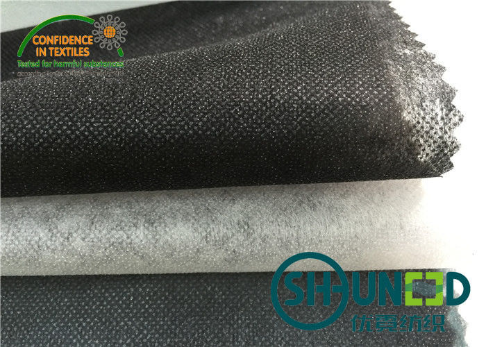 100% Polyester Base Cloth Non Woven Interlining Black For Garment