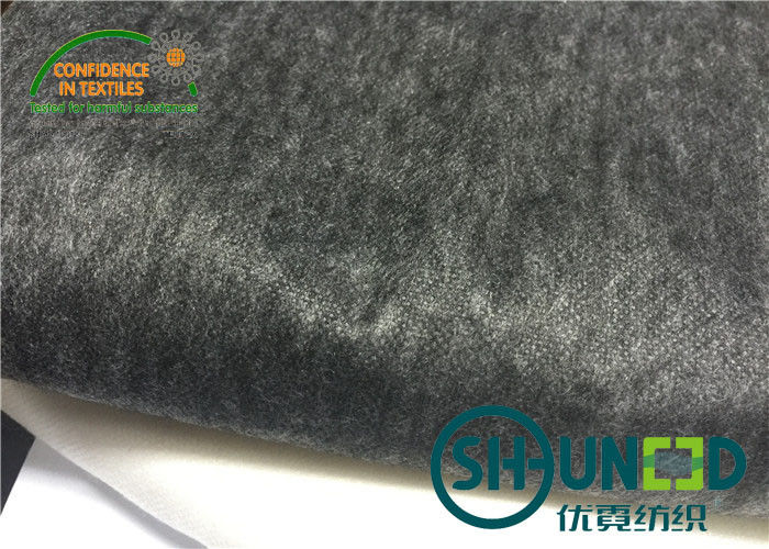 Silicon Strong Fusible Non Woven Interlining Black For Fused Fabric