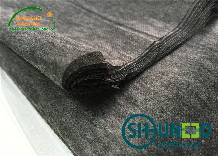 PA Coating Non Woven Interlining Black For Men And Women ' s Clothes