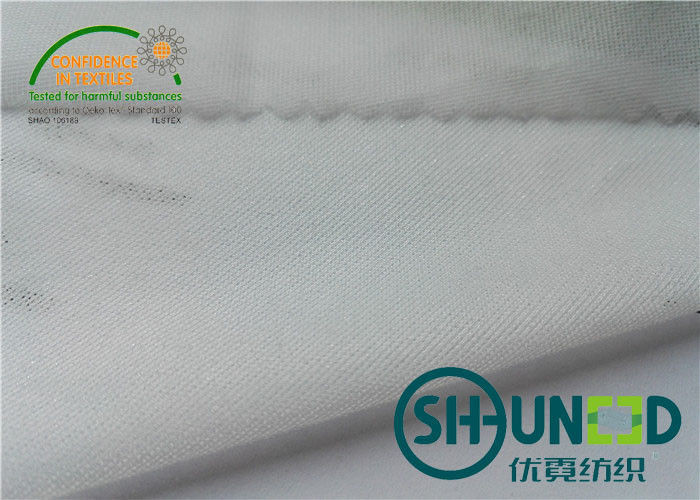 Circular Knit Stretch Interlining Material With Double Dot PA Coating C5027P