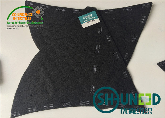 Black Men Garment Shoulder Padding With Polyester / Cotton / Glue