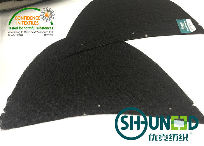 Thinner Mens Black Color Sewing Shoulder Pads For High Level Apparel Industry