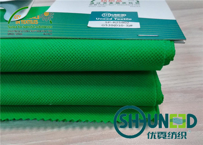 Green PP Spunbond Non Woven Fabric For Antimicrobial Medical , Home Textile
