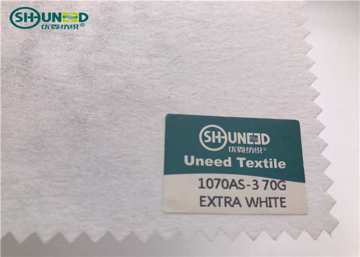 Garment Non Woven Fabric / Embroidery Backing Material Soft Hand Feeling