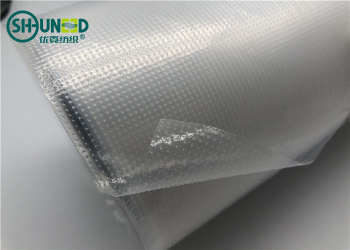 Hot Melt LDPE Film Embroidery Backing Fabric 0.07MM Thickness Film For Backing