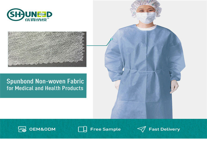 Non Toxic Medical Breathable Non Woven Fabric Disposable Surgical Gown Fabrics