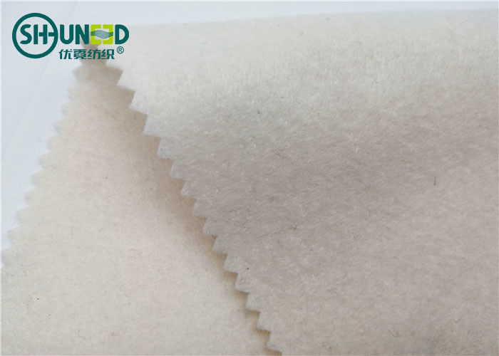 Garment Overcoat Needle Punch Nonwoven Felt Fabric 100cm / 150cm Width