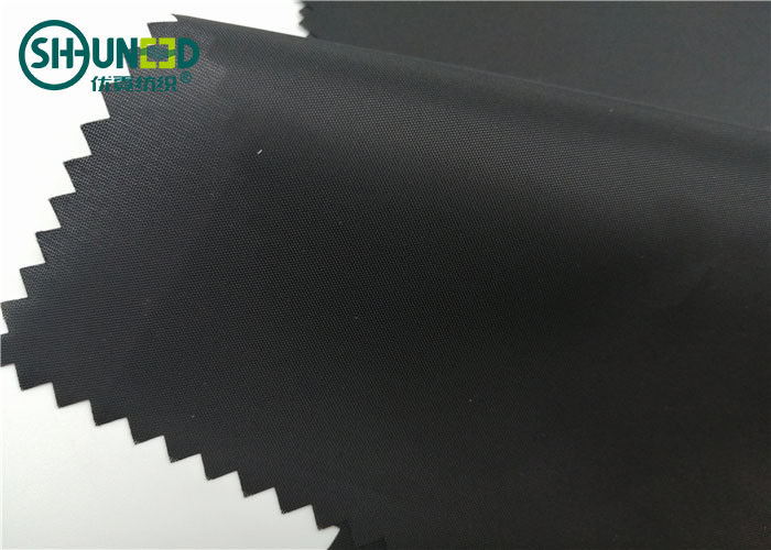 210T Knitted Taffeta Fabric Woven Interlining 100% Polyester For Garment Accessories