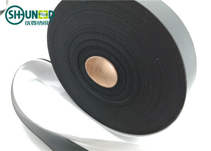 Custom Size Fusible Interlining Double PE Film Coated Elastic Waistband Interlining With Release Paper